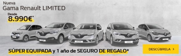 Gama Renault Limited desde 8.990€